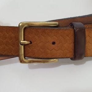 Massimo Dutti Leather Jagged Pant Belt sz 95 (F9)